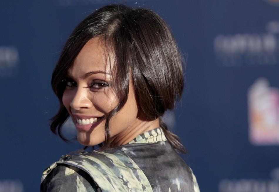 """Actress Zoe Saldana arrives at the """"Captain America: The First Avenger"""" film premiere in Hollywood"""
