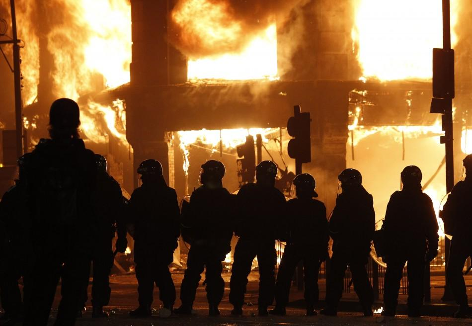 London riots and fires
