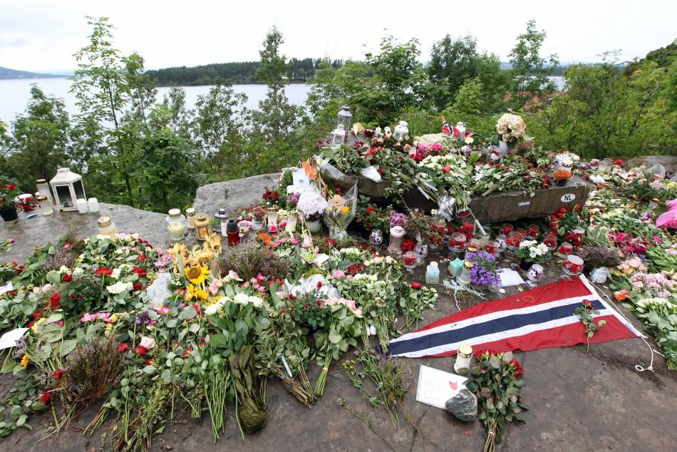 Norway Victims Families Return to Site (5 of 10)