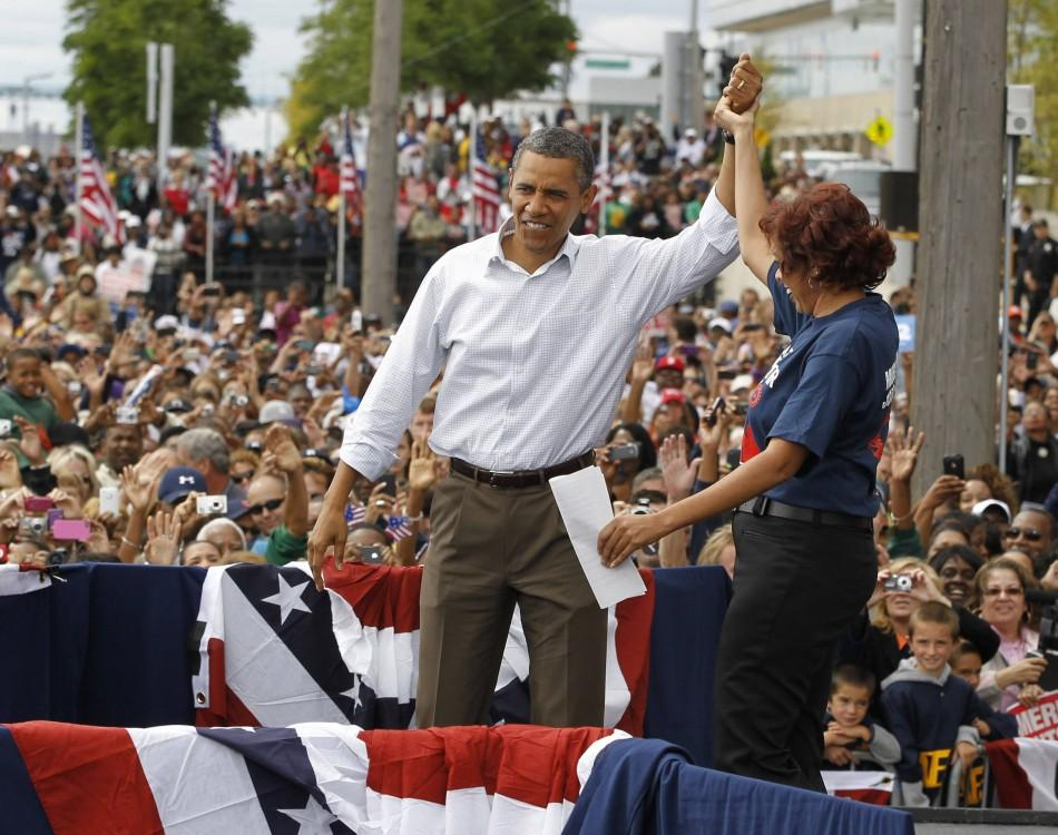 U.S. President Barack Obama at the 2011 Labor Day Rally