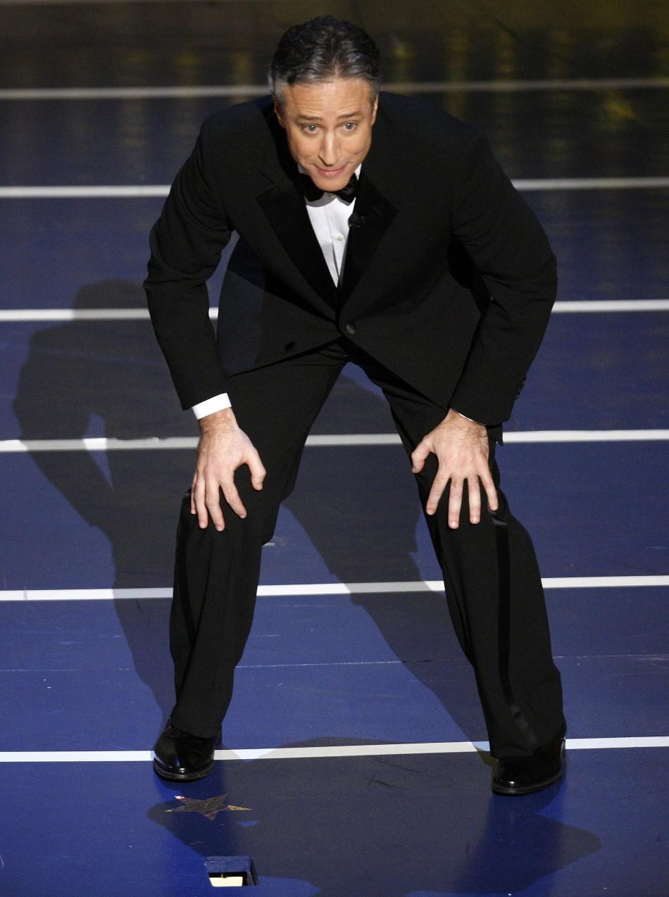 Host Jon Stewart introduces a performance during the 80th annual Academy Awards in Hollywood