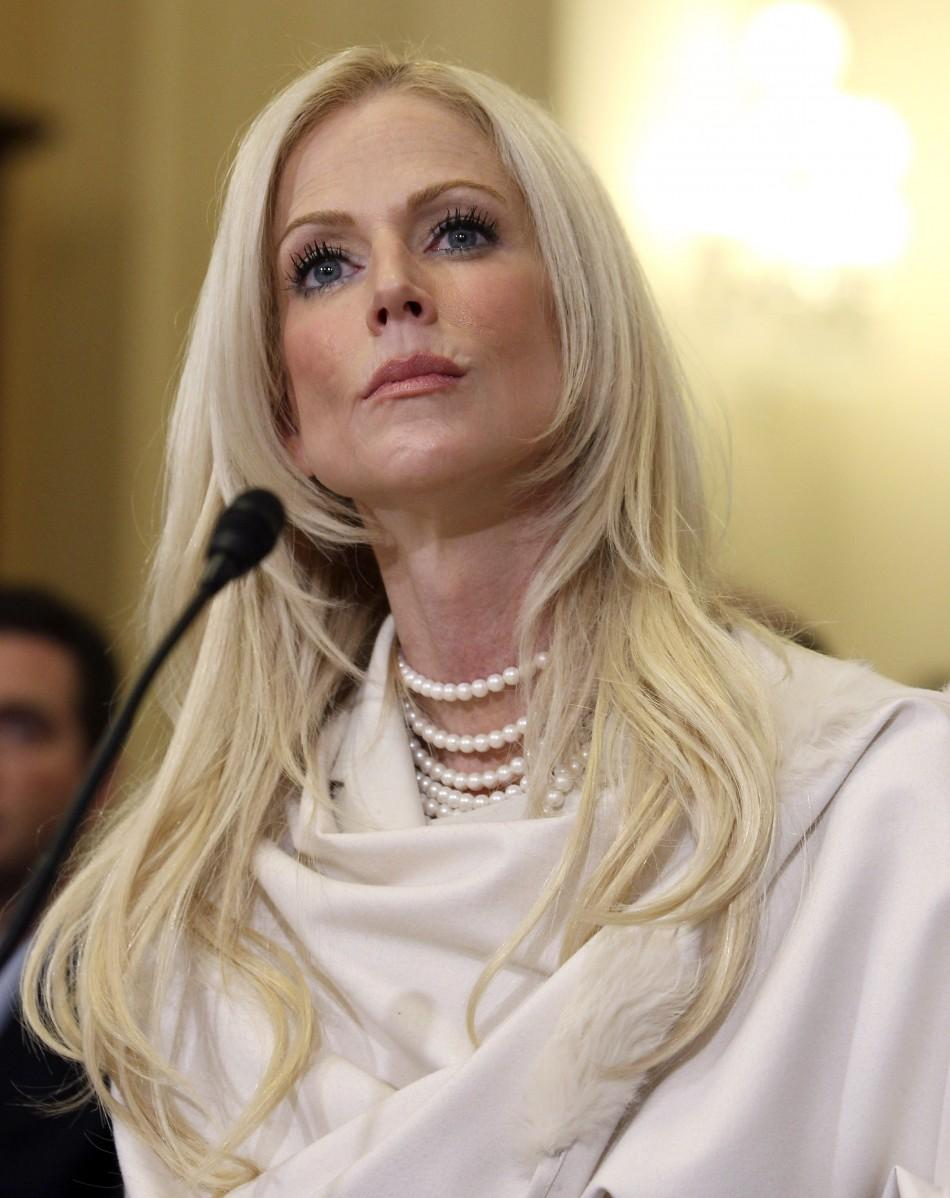 Michaele Salahi refuses to testify before the House Homeland Security Committee on Capitol Hill in Washington