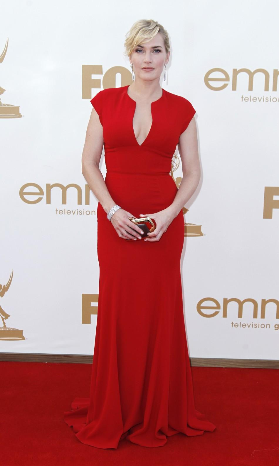 Kate Winslet arrives at the 63rd Primetime Emmy Awards