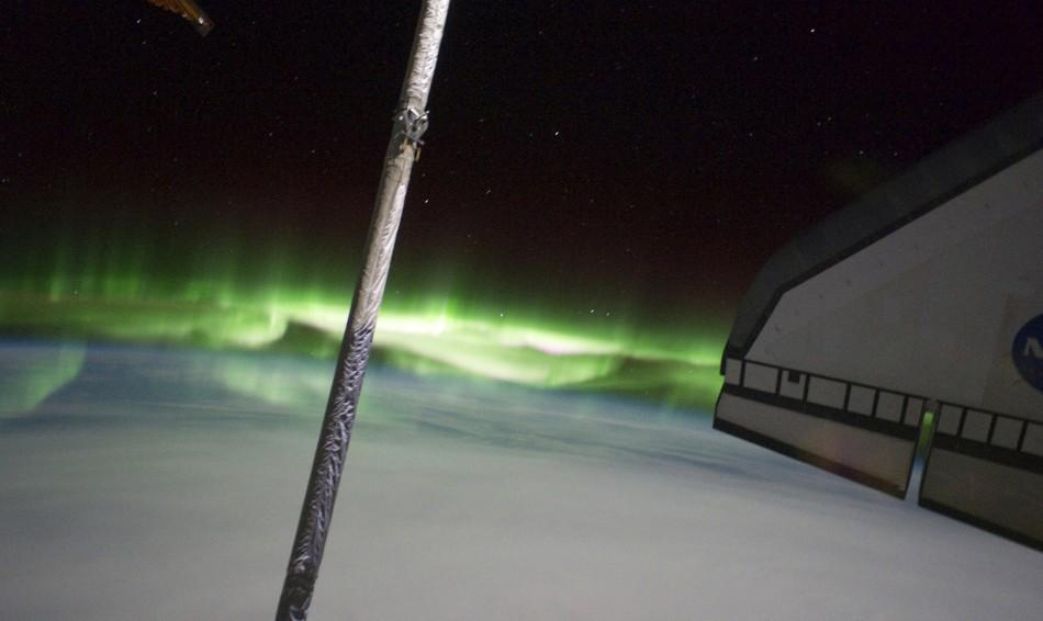 The Southern Lights or Aurora Australis is pictured in this July 14, 2011 NASA handout photo by an astronaut from the space shuttle Atlantis while visiting the International Space Station