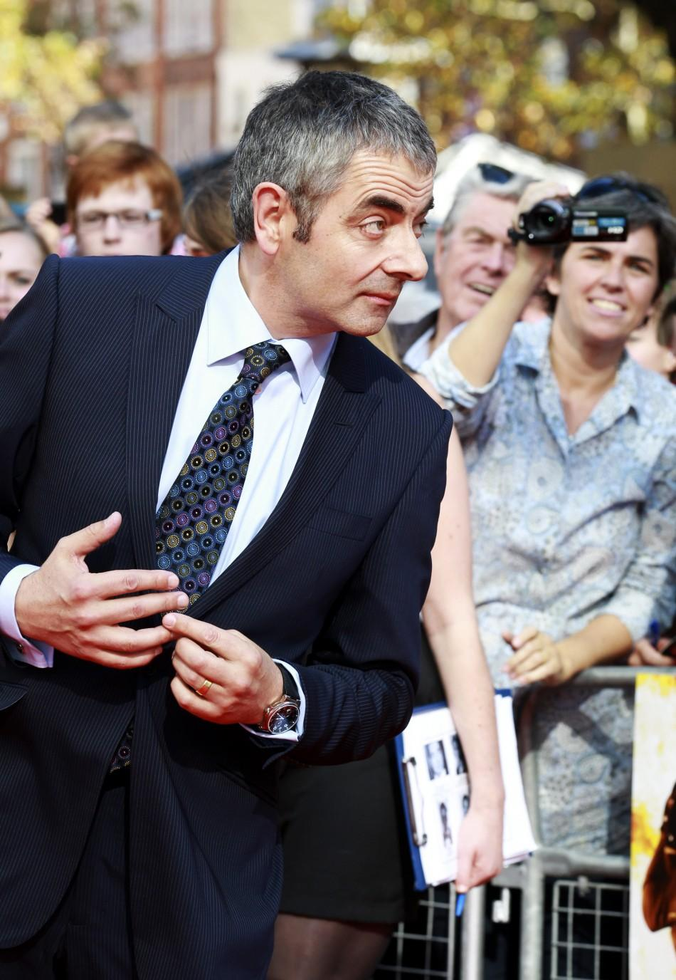 Actor Rowan Atkinson arrives for the UK premiere of Johnny English Reborn, at the Empire Leicester Square in central London