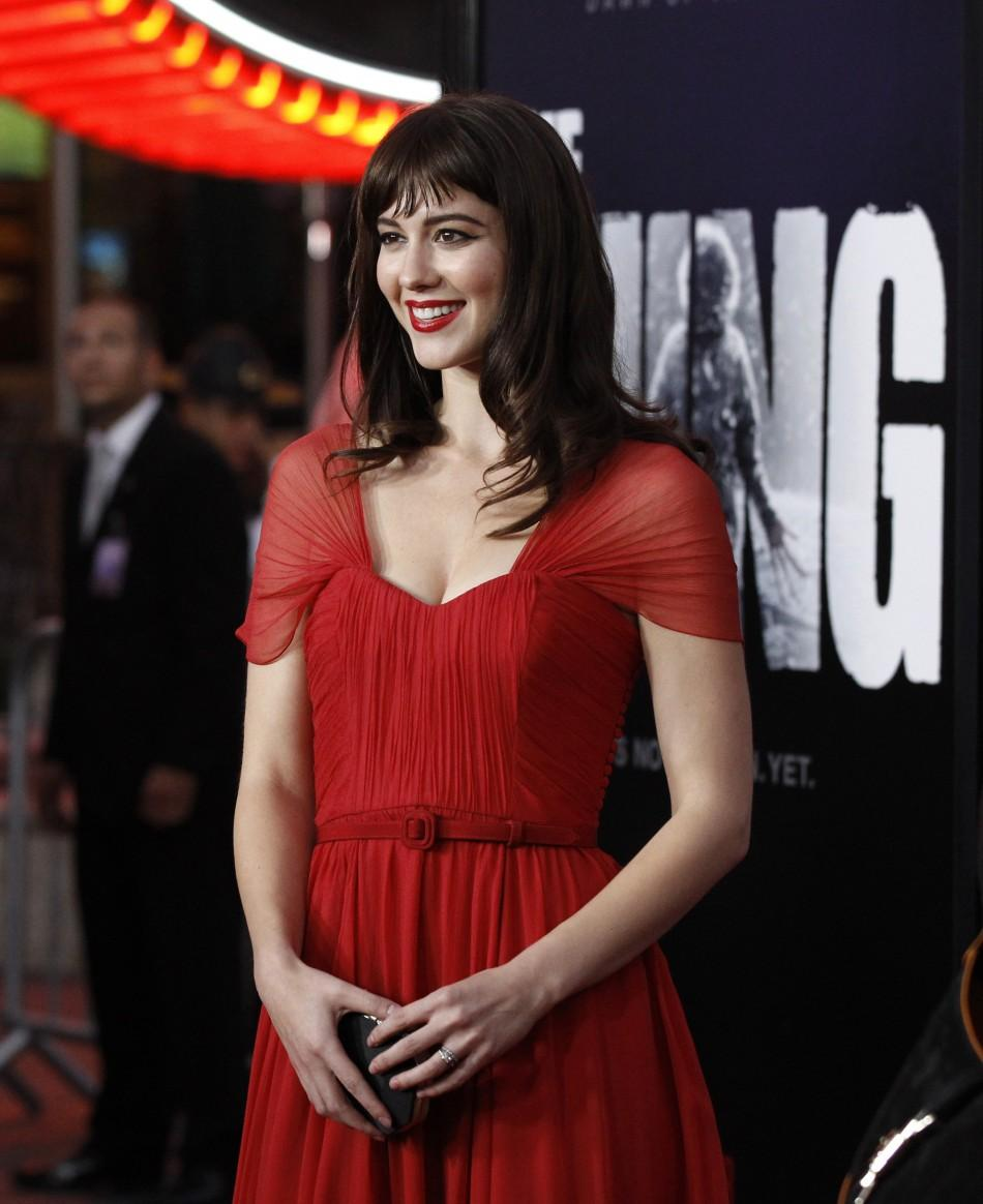 "Cast member Mary Elizabeth Winstead poses at the world premiere of ""The Thing"" at Universal Studios Hollywood in Universal City, California"