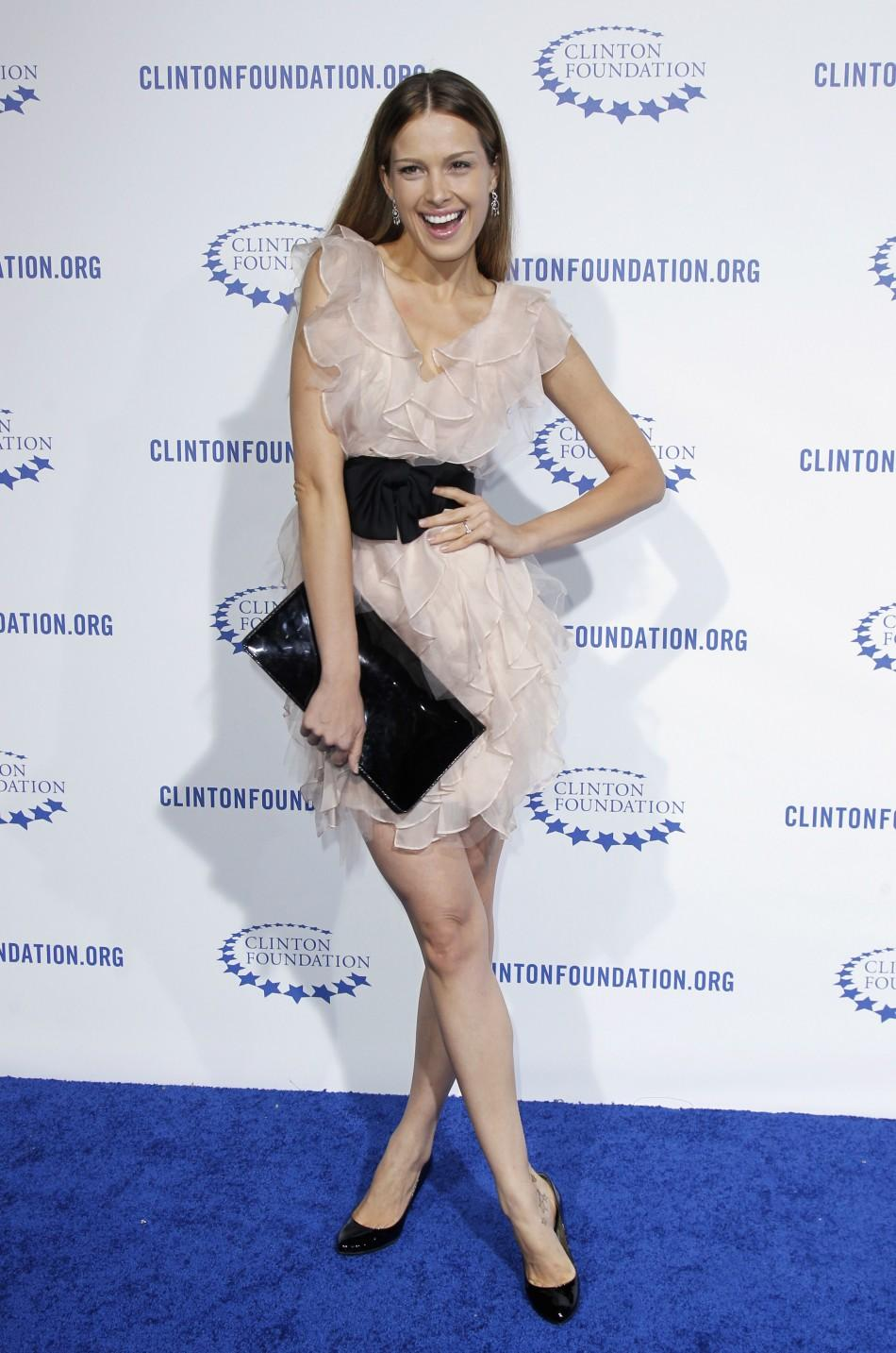 "Model Petra Nemcova arrives at The Clinton Foundation Gala in celebration of the organization's ""Decade of Difference"" in Los Angeles"
