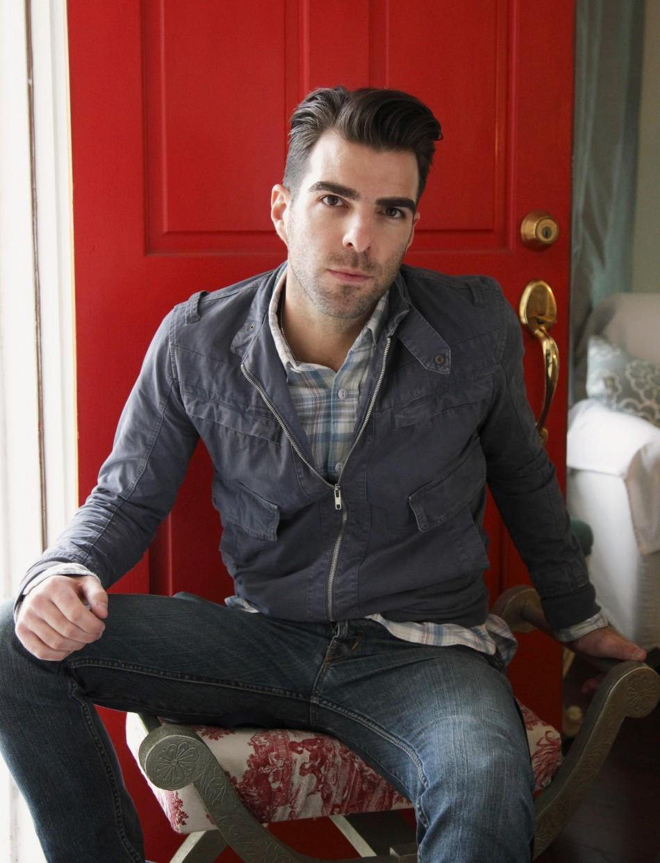 "Producer and actor Zachary Quinto poses for a portrait while promoting the film ""Margin Call"" in Los Angeles"