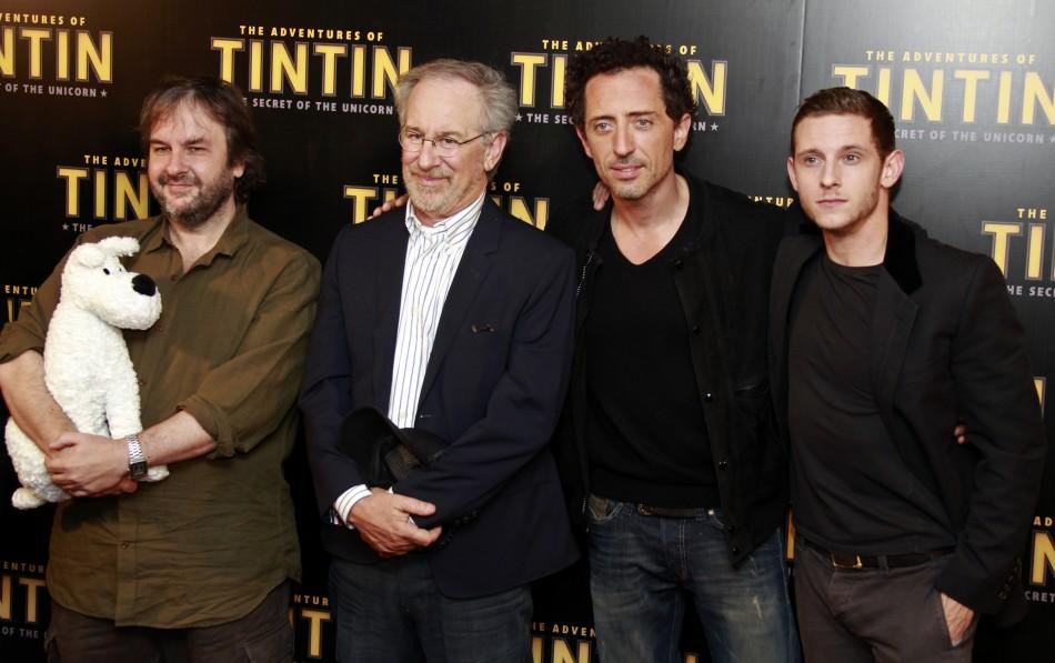 "At a ""Tintin"" photocall."