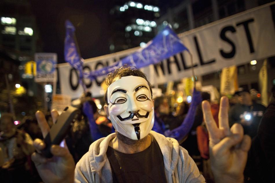 'Occupy Wall Street' Protestors Don Halloween Costumes