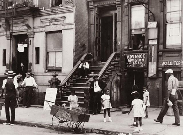"""Harlem Scene: 133rd Street Between Lenox and Fifth Avenues"" (1930s)"