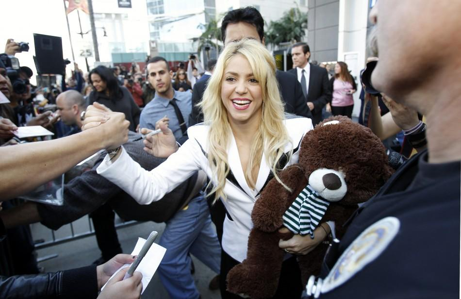 Colombian singer Shakira greets her fans after unveiling her star on the Hollywood Walk of Fame in Hollywood, California