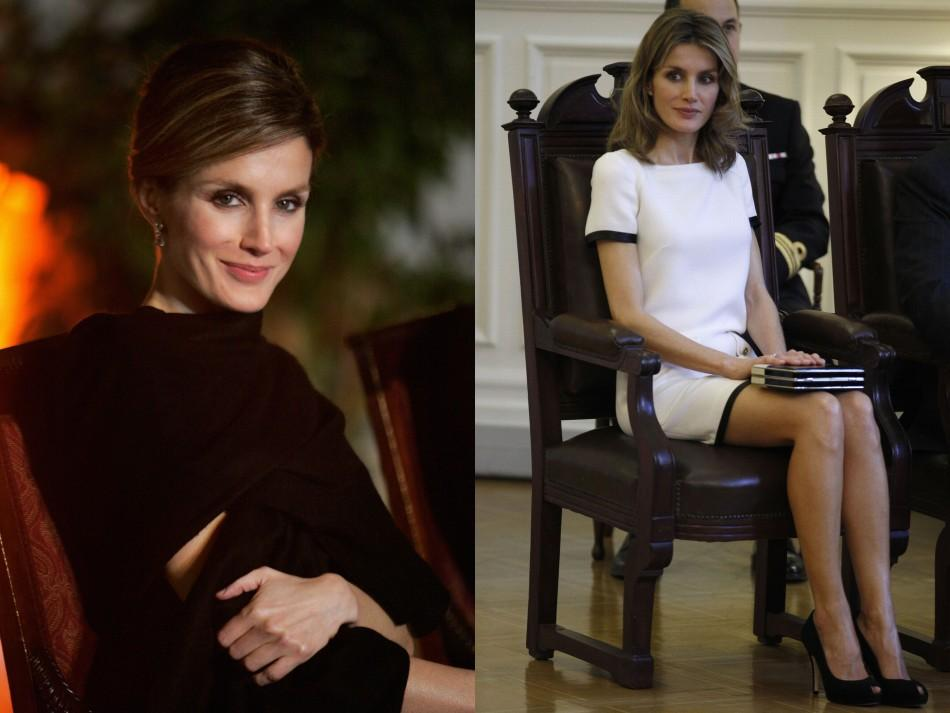 Spain's Princess Letizia Wears Red on Official Visit to Chile