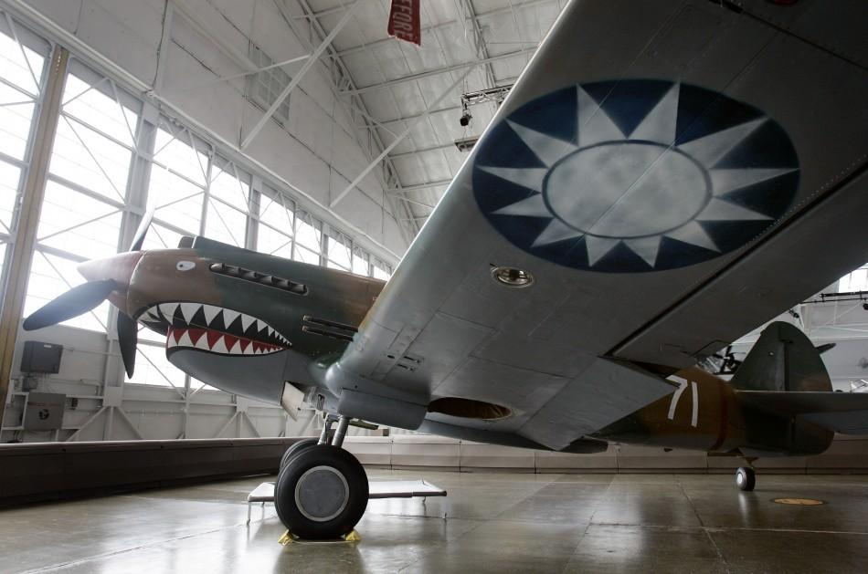 Curtis P-40C Tomahawk sits on display as part of the Paul G. Allen's Flying Heritage Collection