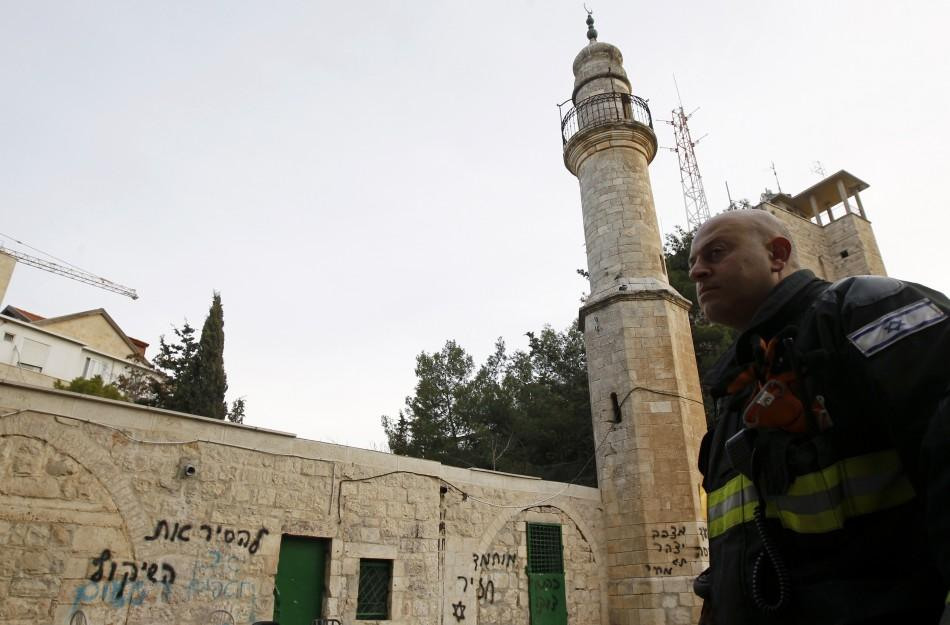 Arsonists Vandalize Jerusalem Mosque