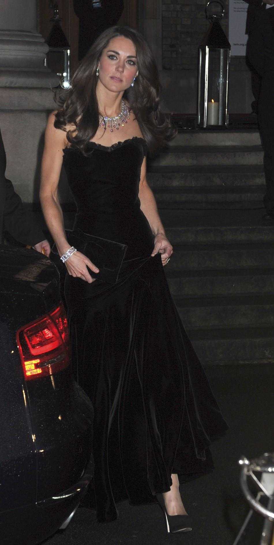 Kate Middleton in an Alexander McQueen's Sarah Burton Gown