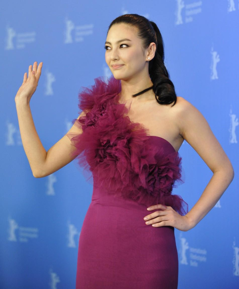"Cast member Zhang Yuqi poses during a photocall to promote the movie ""Bai Lu Yuan"" (White Deer Plain) at the 62nd Berlinale International Film Festival in Berlin February 15, 2012."