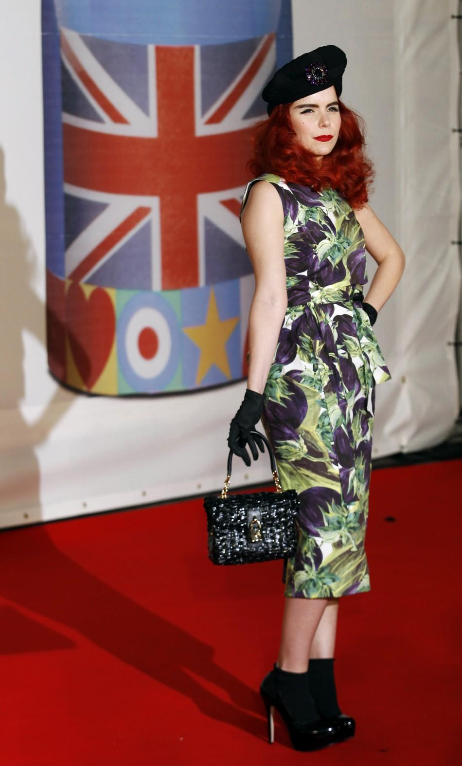 Paloma Faith arrives for the BRIT Music Awards at the O2 Arena in London February 21, 2012.