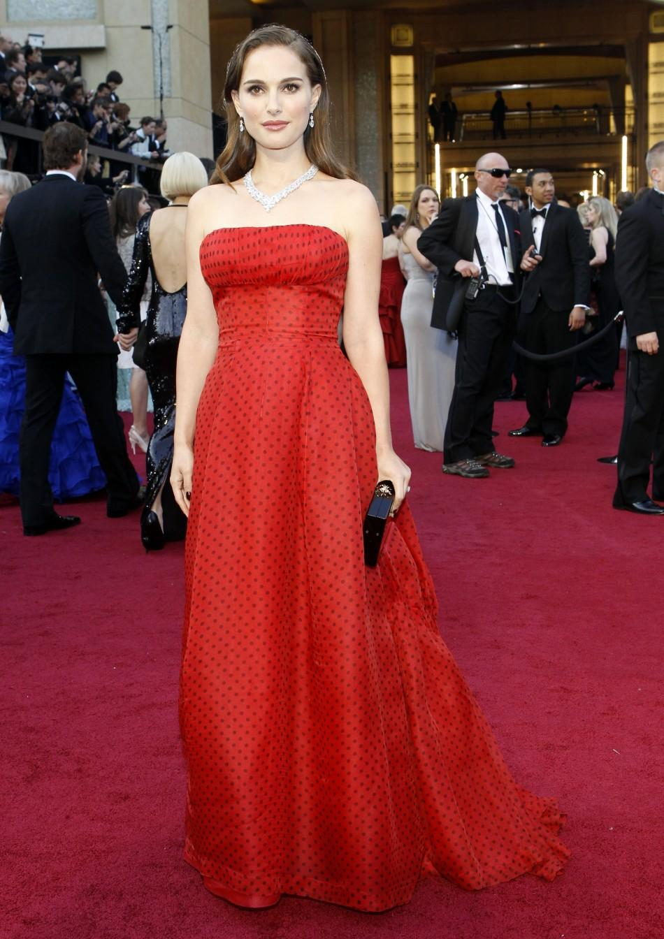 Actress Natalie Portman arrives at the 84th Academy Awards in Hollywood, California February 26, 2012.