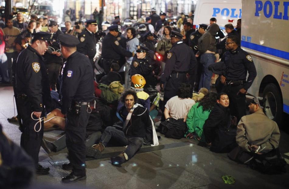 Dozens of Occupy Wall Street Protesters Arrested (PHOTOS)