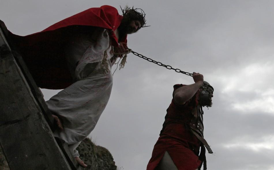 Jesus Christ's Crucifixion Re-enacted In Czech Passion Play