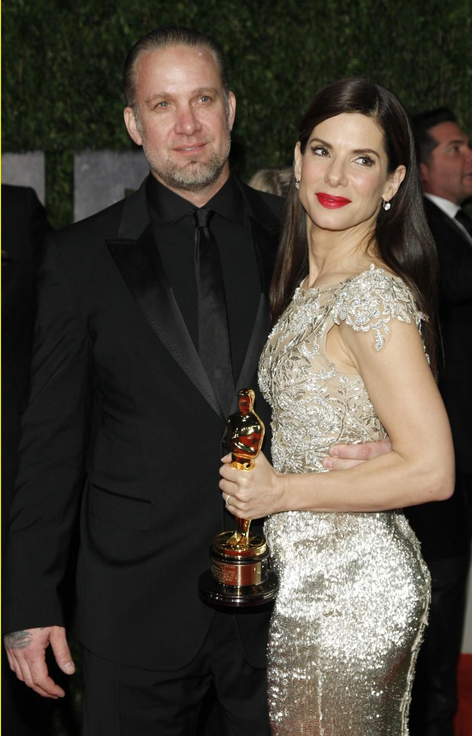 Jesse James and his ex-wife actress Sandra Bullock