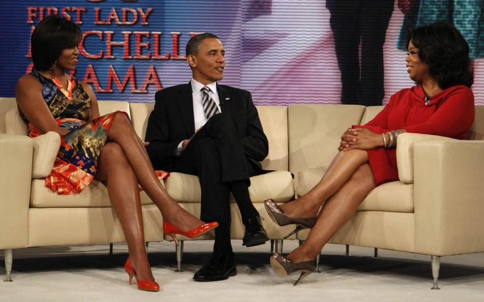 President Barack Obama, First Lady Michelle Obama and Oprah Winfrey
