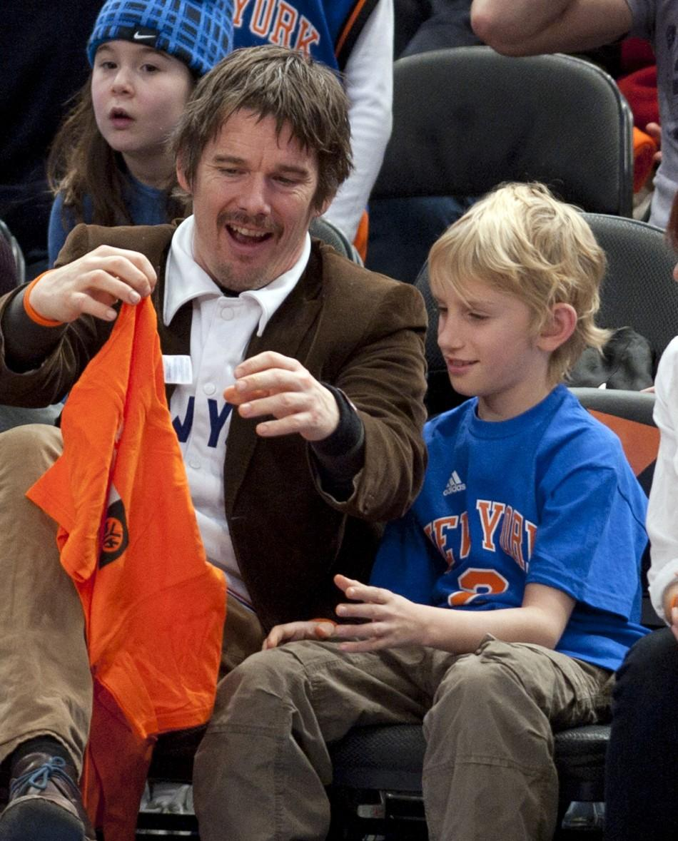 Ethan Hawke and son