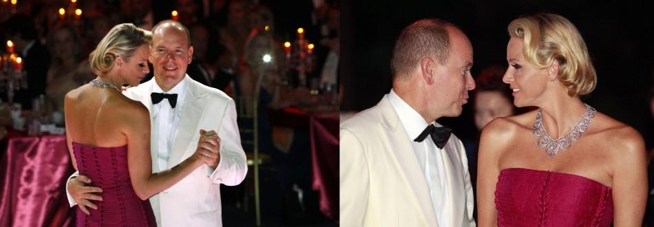 Prince and Princess of Monaco Make Romantic Appearance at Red Cross Ball