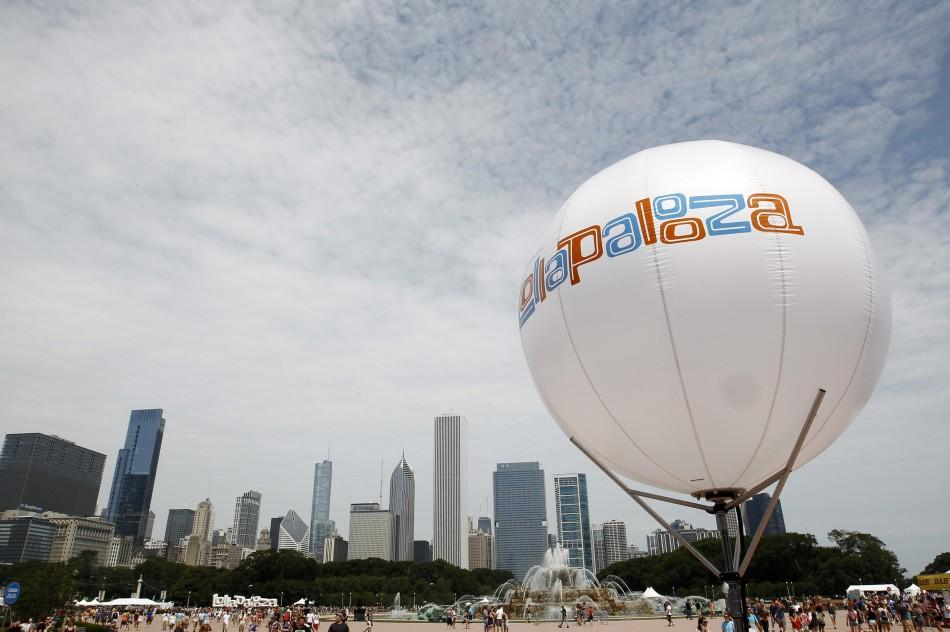 A general view shows the site of the Lollapalooza music festival in Grant Park in Chicago