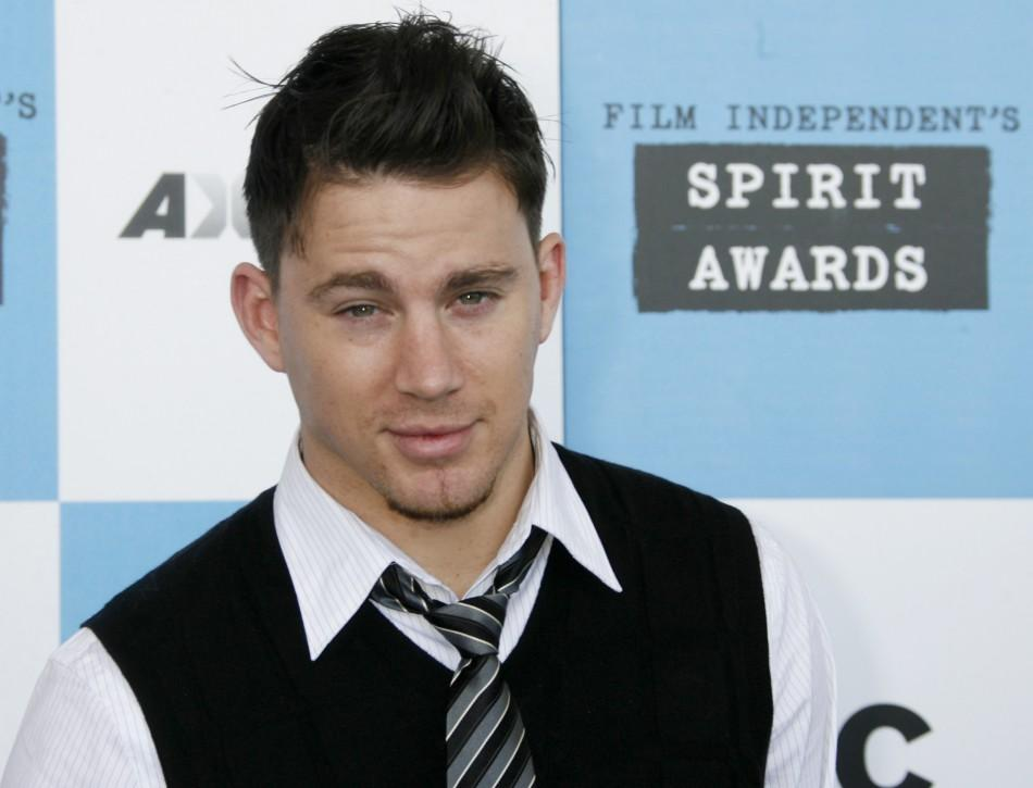 Actor and nominee Channing Tatum arrives at Film Independent's Spirit Awards in Santa Monica