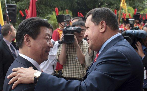Xi Jinping and Hugo Chavez