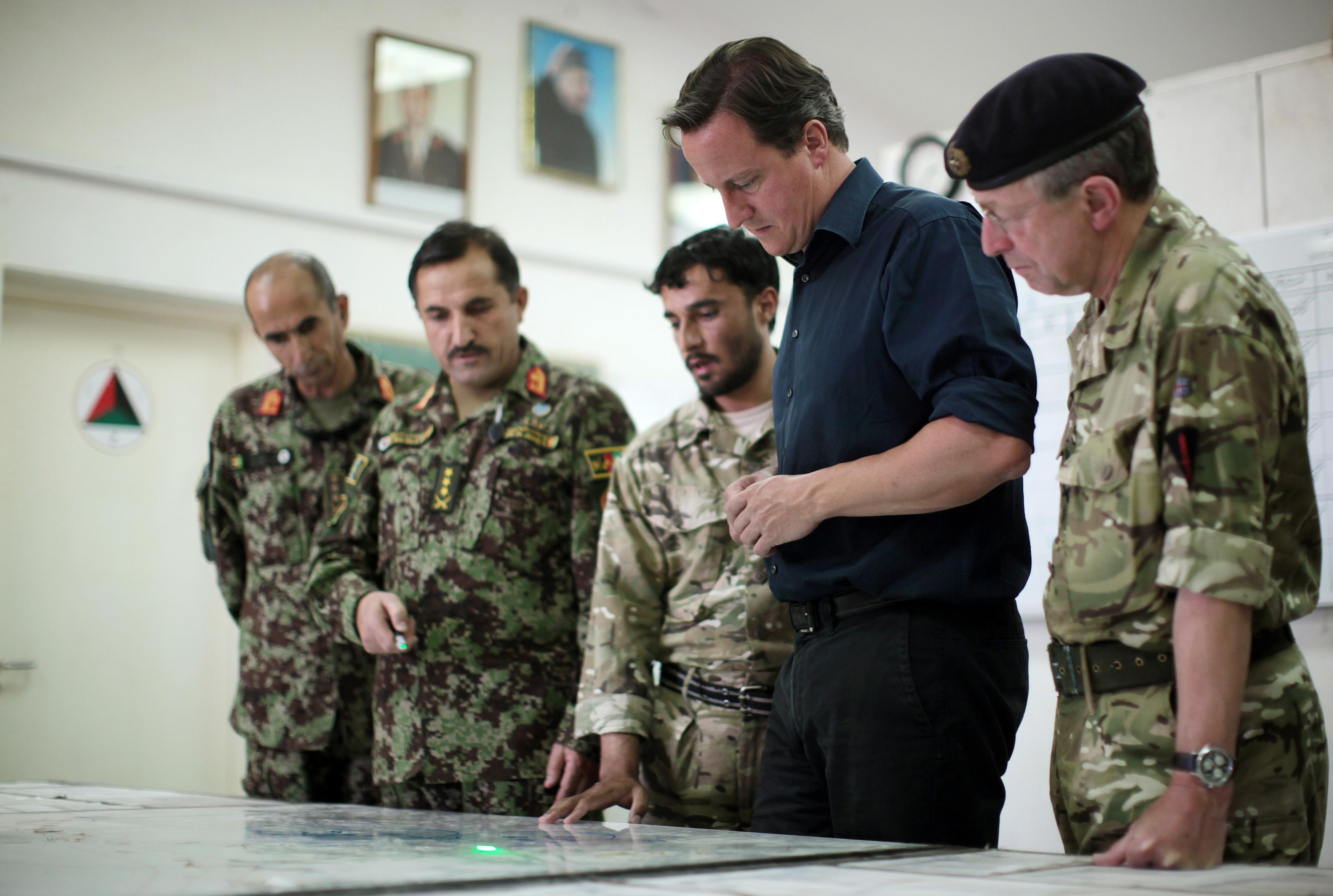 Cameron in Afghanistan
