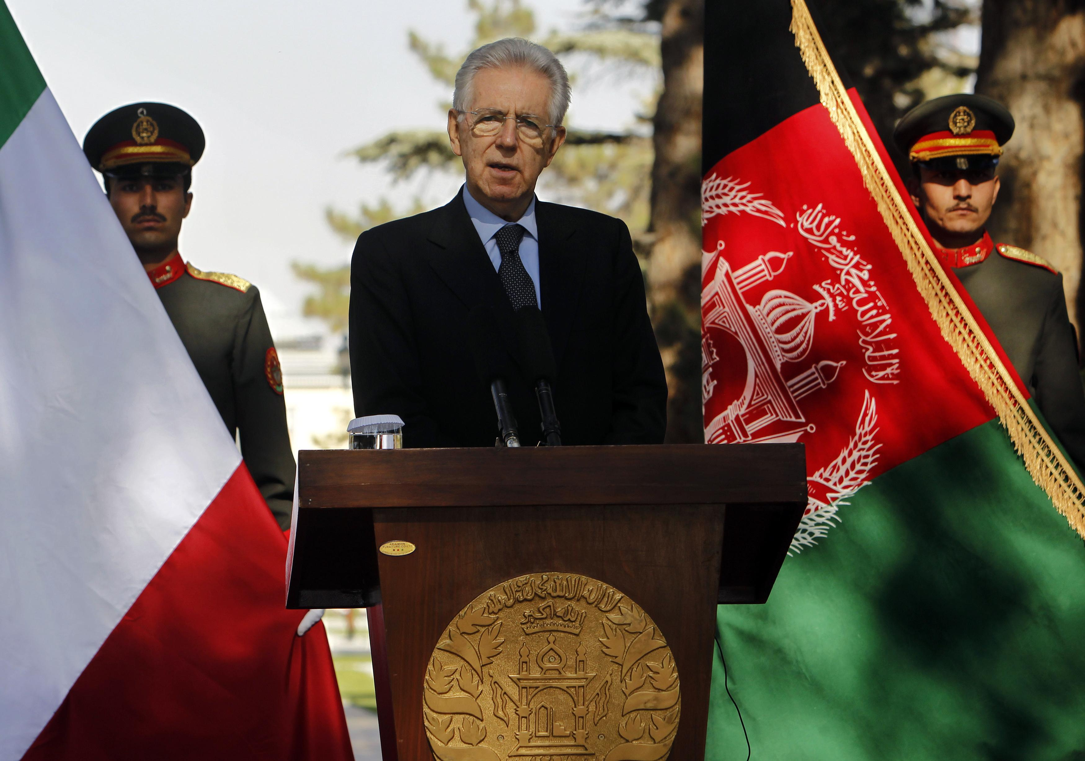 Monti in Afghanistan