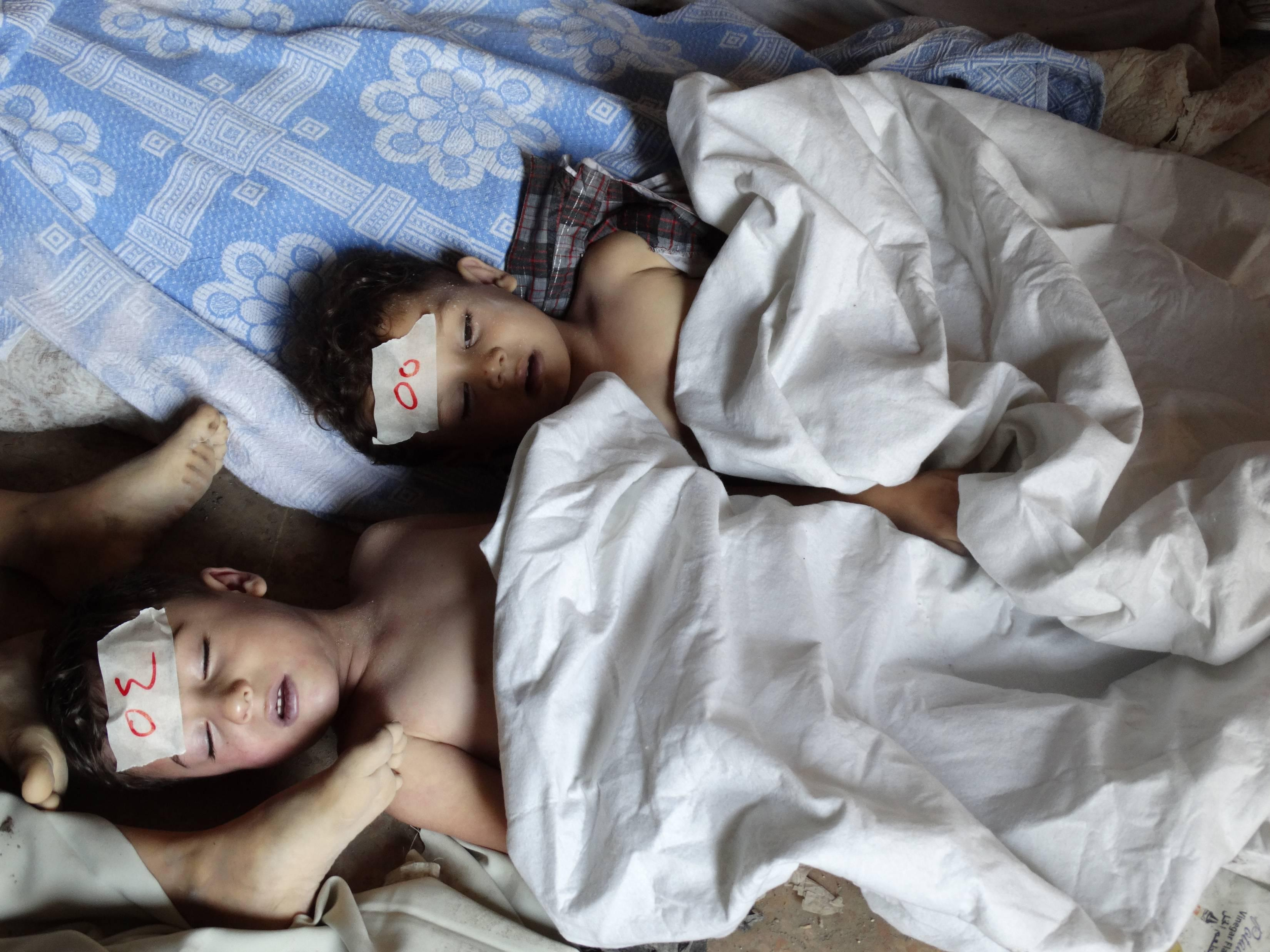 Syria casualties children gas attack