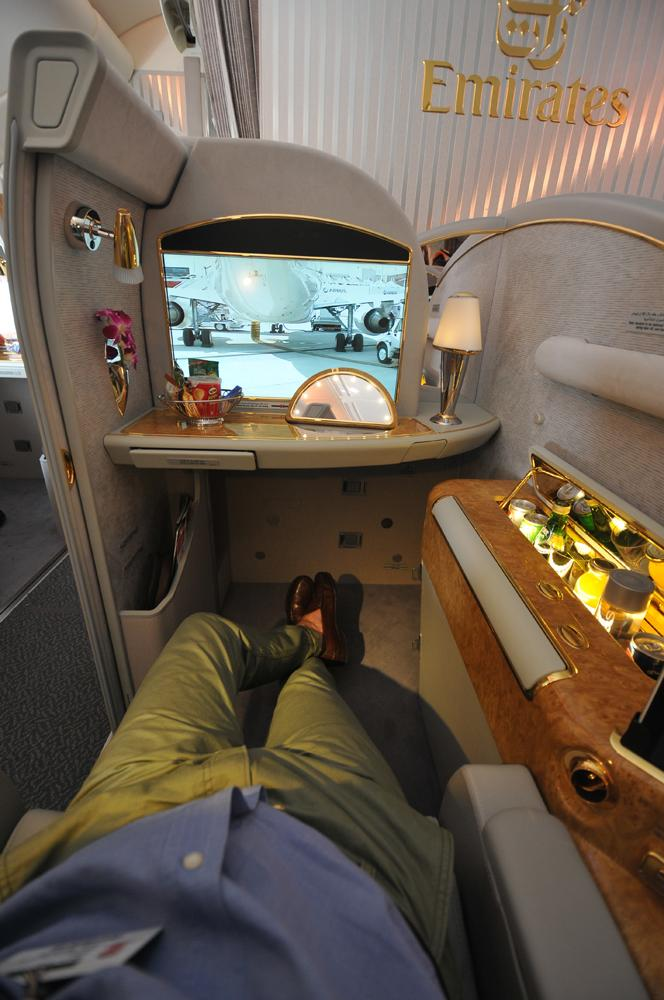 Emirates Airbus A380 first class D