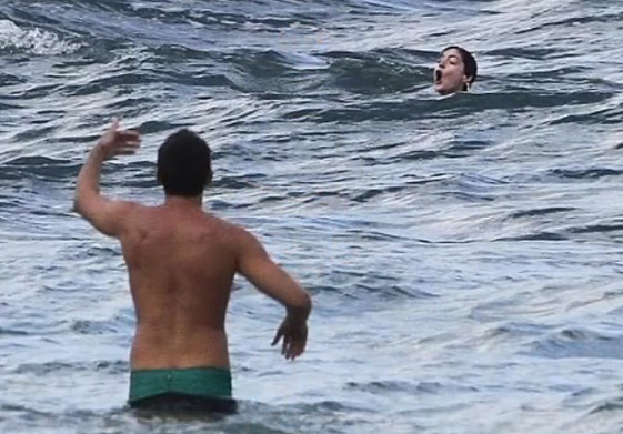 Anne Hathaway Almost Drowns