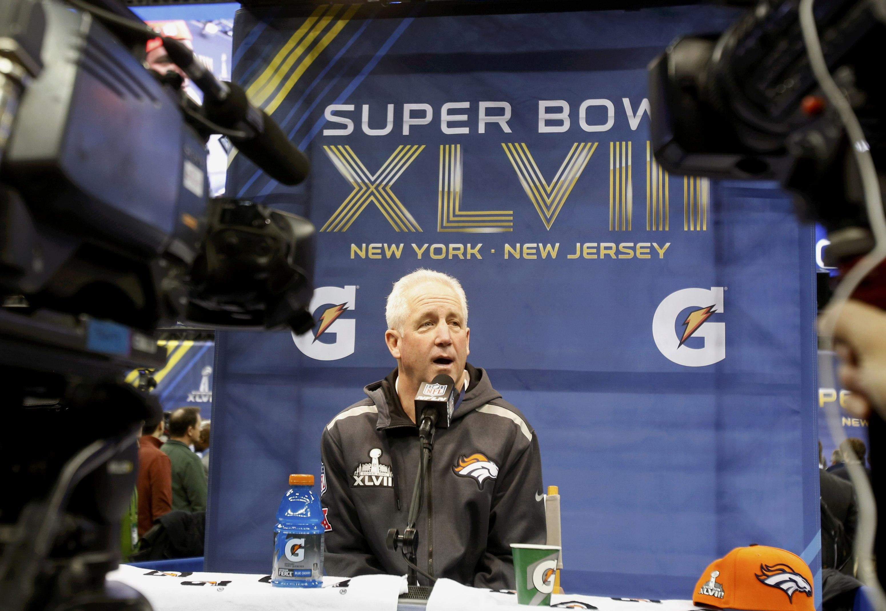 Super Bowl Media Day coach John fox
