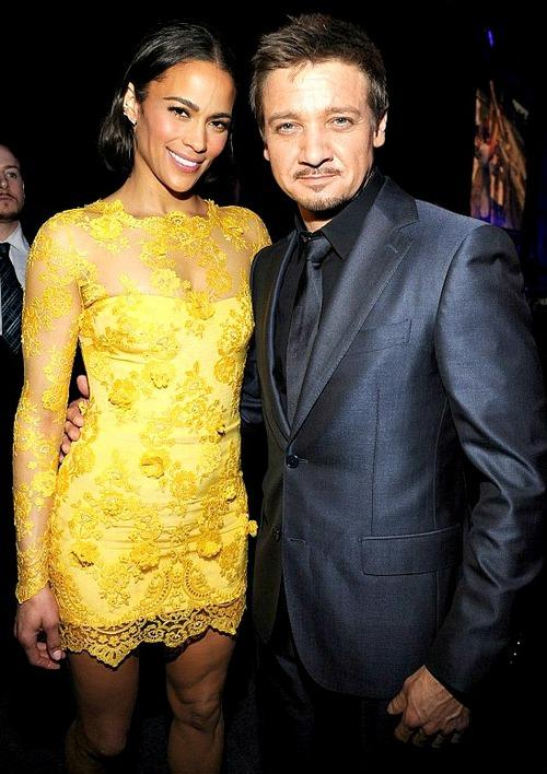 Paula Patton and Jeremy Renner