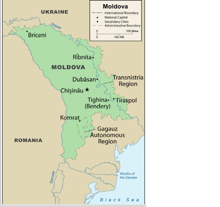 Russia Conducts Military Exercises In Moldovas Breakaway Region - Transnistria map