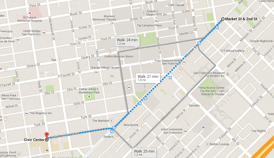 San Francisco St. Patrick's Day Parade 2014 Route Map