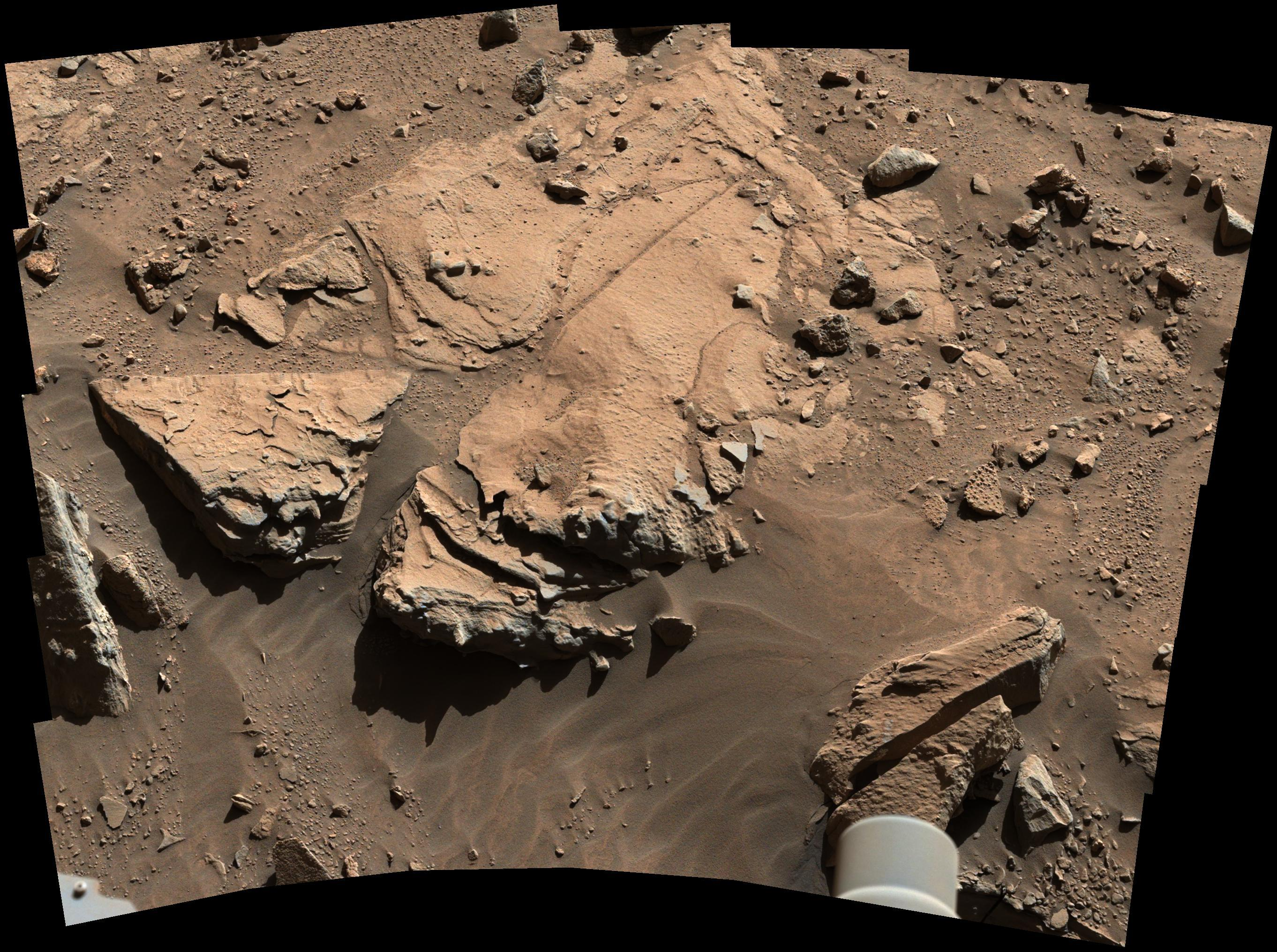 Curiosity Mars Rover Potential Sandstone Drill Target