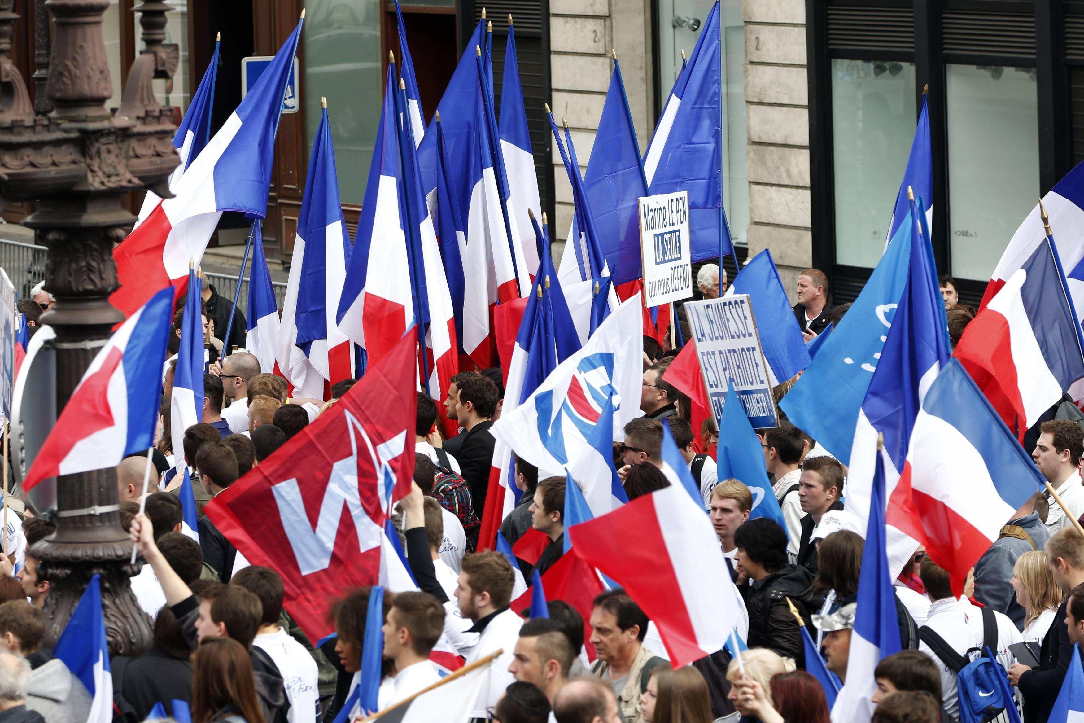 May day Paris Flags
