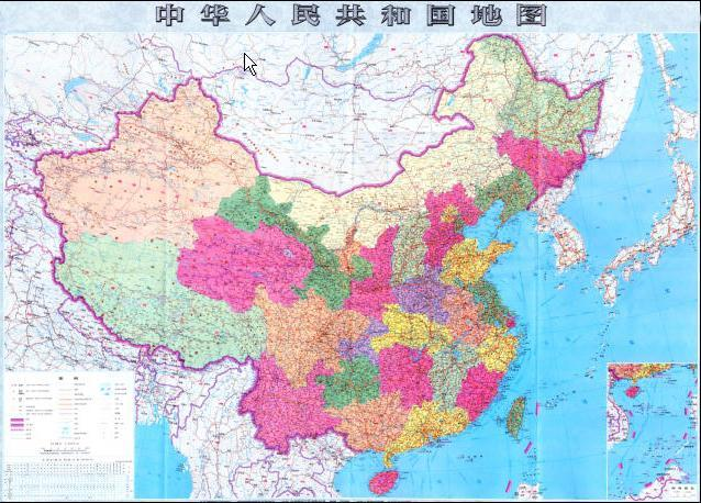 China official map old