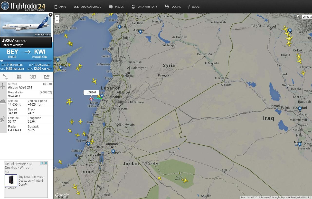 Jazeera Airways routing