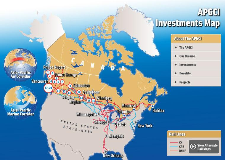 Canada S Western Ports Ship Container Cargo To The United States But The Lines Connect Them To The American Midwest The Northeast And To Oil Refineries On