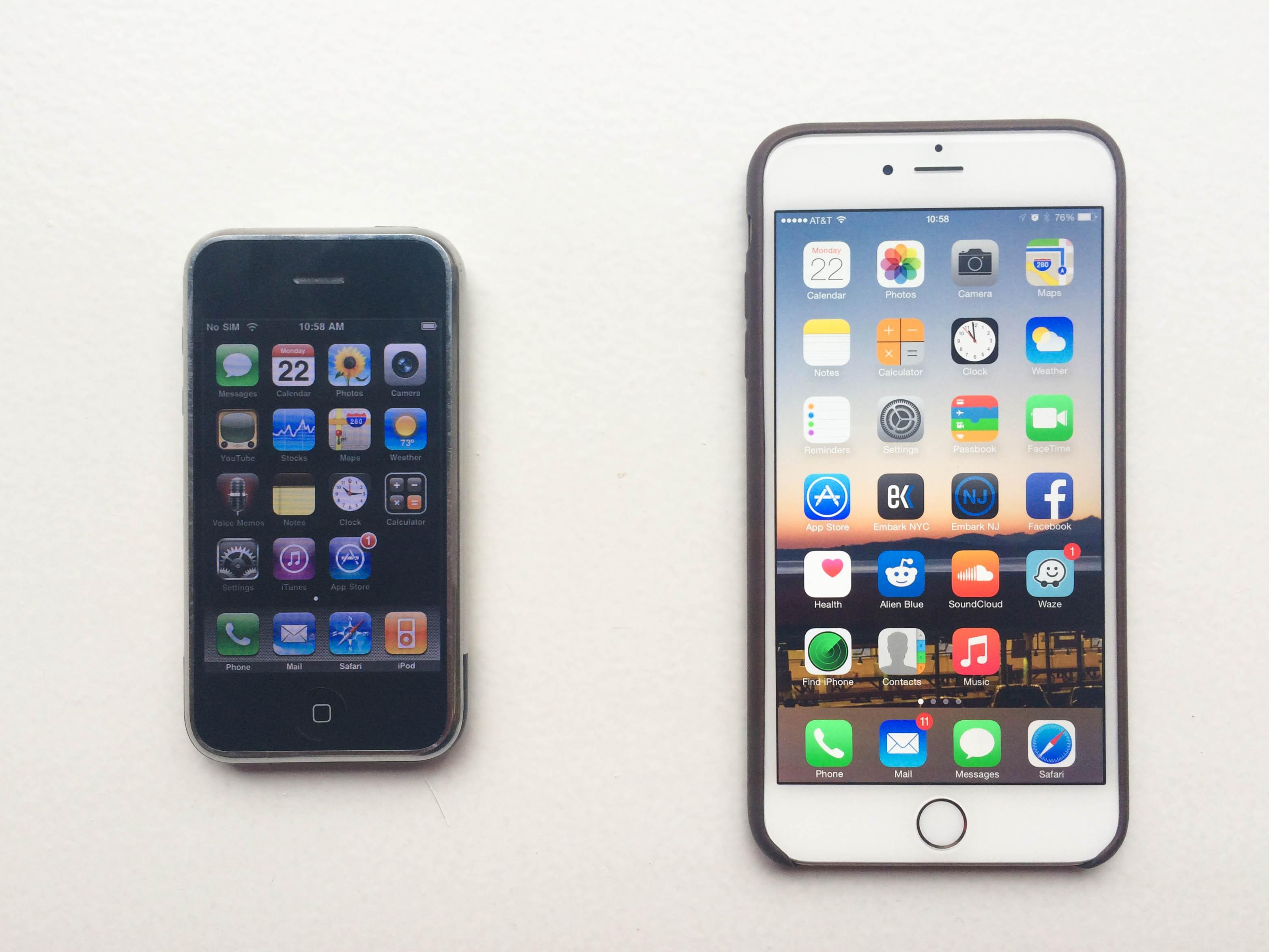 iPhone vs iPhone 6 Size