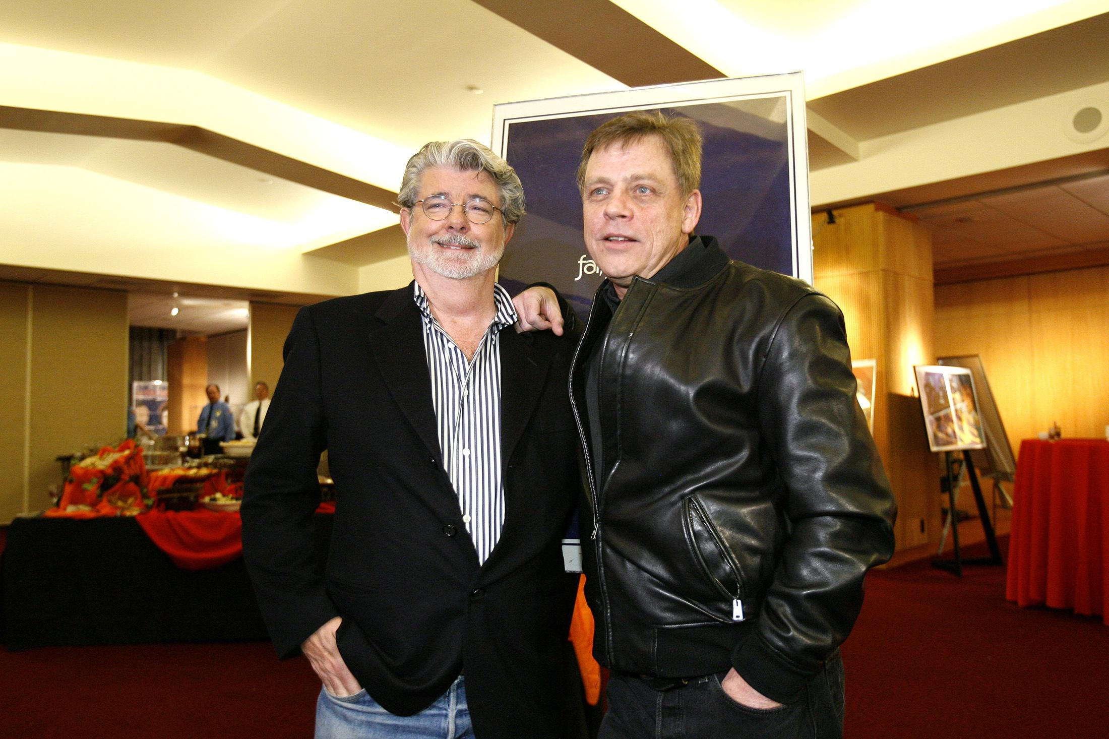 Mark Hamill and George Lucas