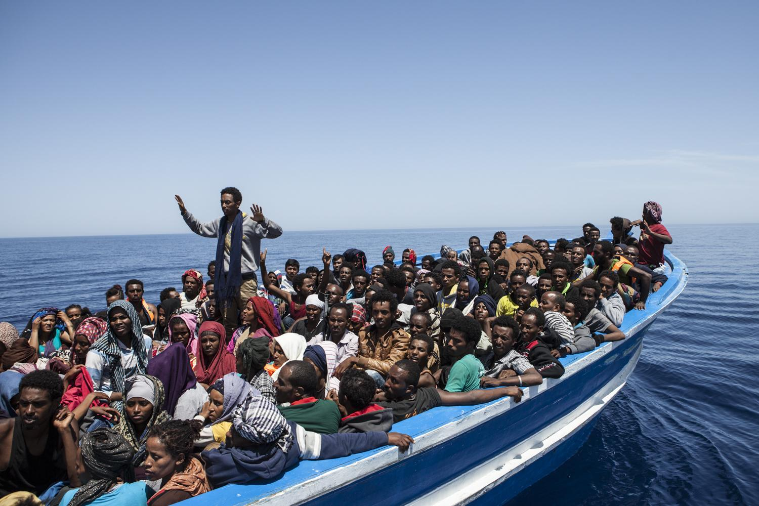 Mediterranean Refugees Migrant Offshore Aid Station (MOAS) 1