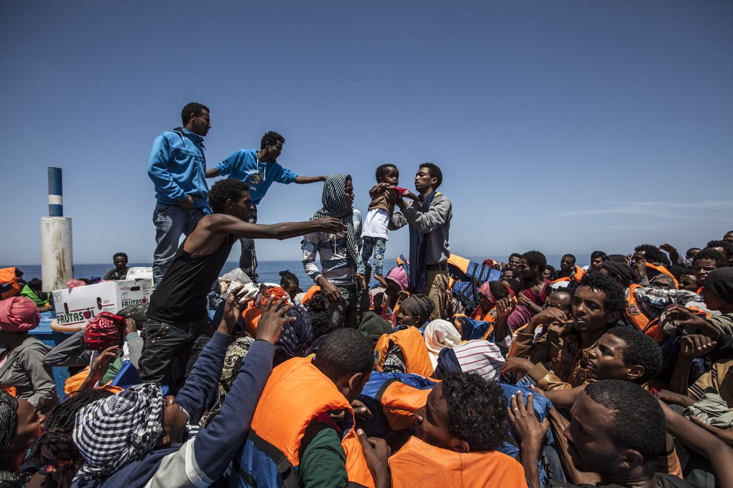 Mediterranean Refugees Migrant Offshore Aid Station (MOAS) 2